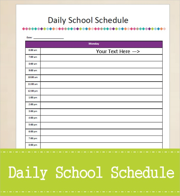 daily planner sample