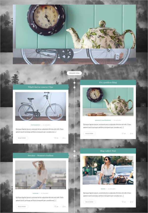 timeline wordpress blog theme
