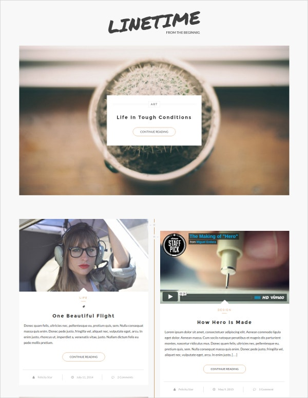 modern timeline wordpress theme