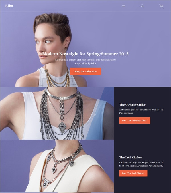 Amazing Jewelry Website Theme