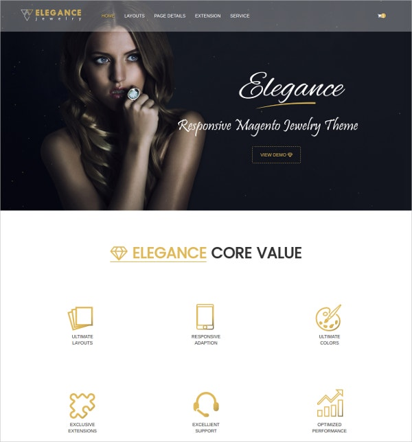 Magento Jewelry Website Theme $84
