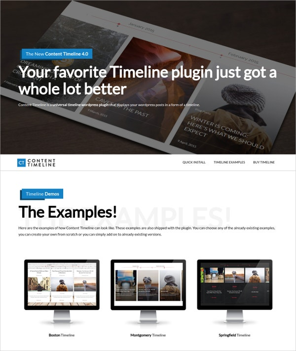 Creative Timeline WordPress Theme