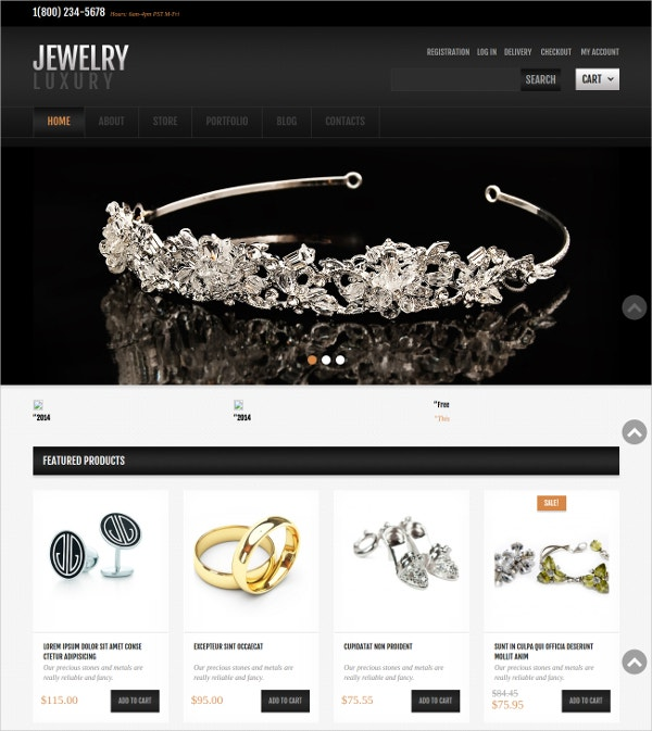 Simple Jewelry Jigoshop Website Theme