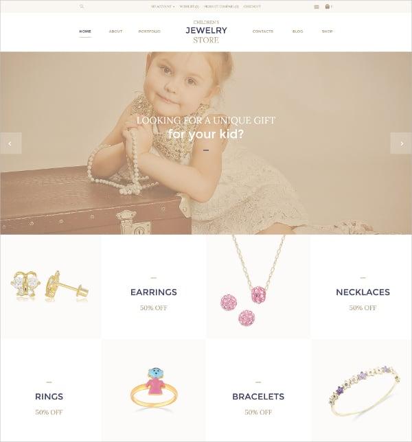 beautiful childrens jewelry store opencart website template 89