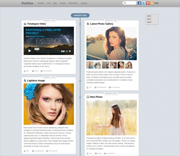 personal timeline wordpress theme