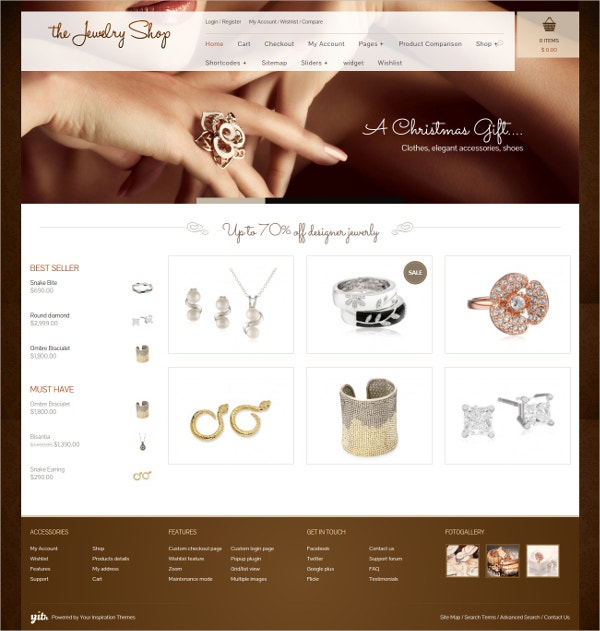 Elegant Jewelry Woo Commerce Website Theme