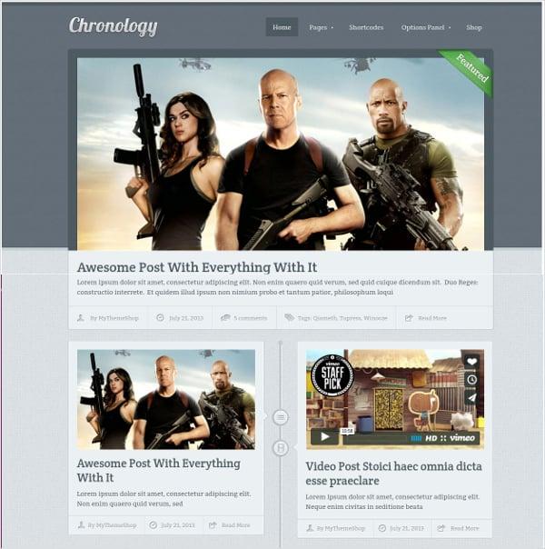 Timeline Style WordPress Theme