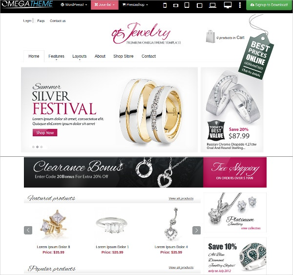 23+ Jewelry Website Themes & Templates | Free & Premium Templates