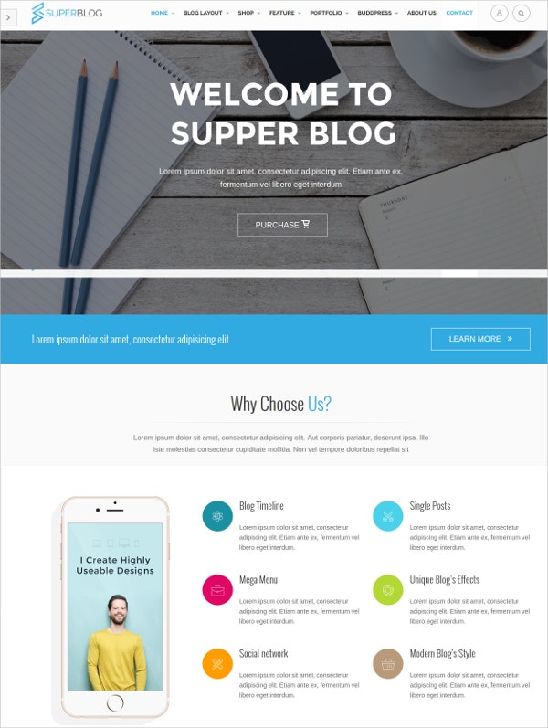 Responsive Timeline WordPress Theme