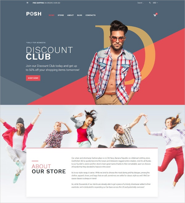 Apparel Fashion Blog WordPress Theme $114