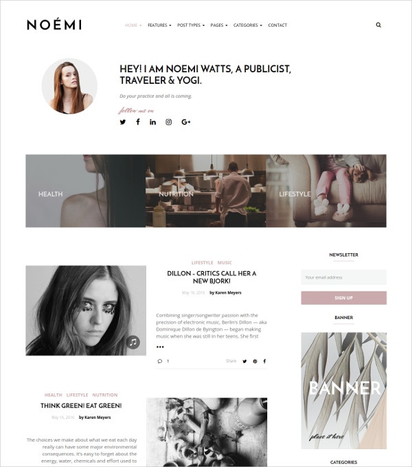 Lifestyle Fashion Blog WordPress Theme $59