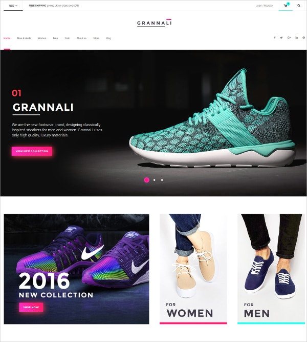 Shoe Fashion Blog WordPress Theme $114