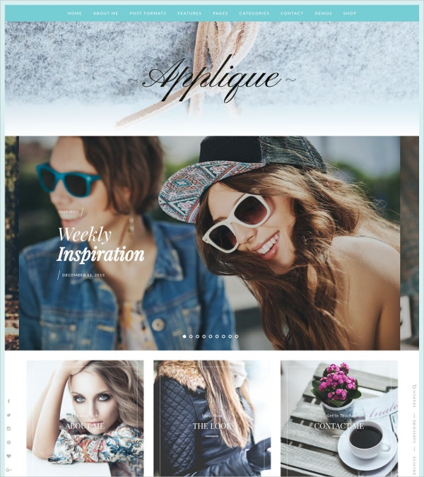 Classic Fashion Blog WordPress Theme $49
