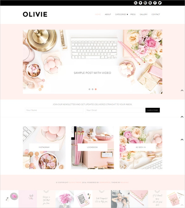 Unique Fashion Blog WordPress Theme $99
