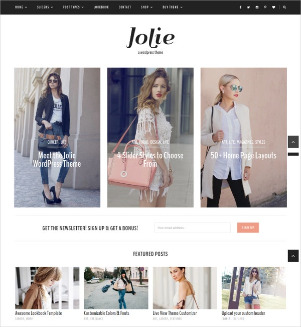 Style Fashion Blog WordPress Theme $39