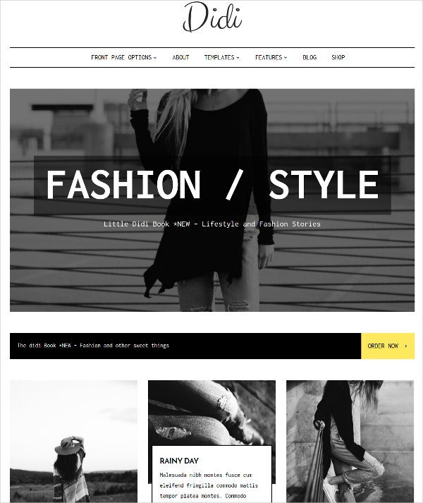 Modern Responsive Fashion Blog Theme $59