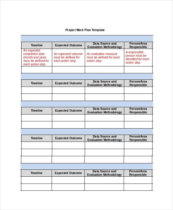 Project Plan Template - 10+ Free Word, Psd, Pdf Documents Download