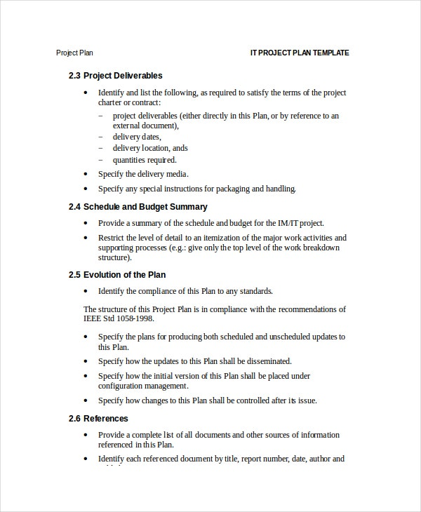 project plan template word sample project plan template project