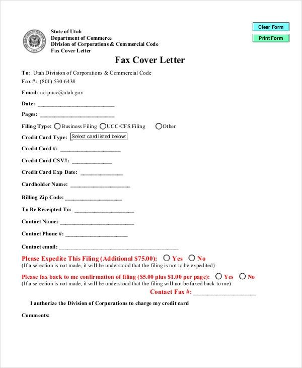 Cover letter format 17 free word pdf documents for Cover letter for faxing documents
