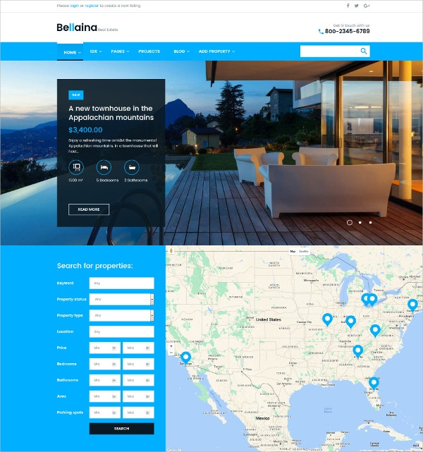 Premium Real Estate & Agency WordPress Theme $75