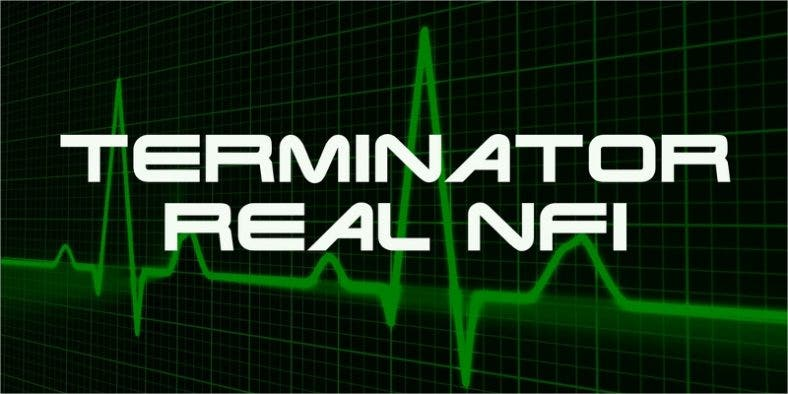 Terminator Real NFI Font