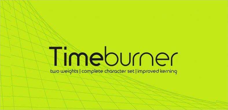 Time Burner Font