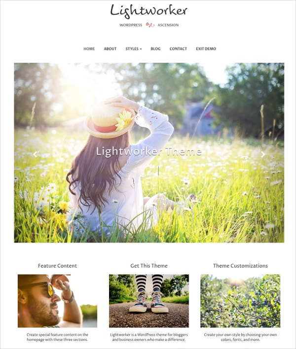 Minimal Bootstrap WordPress Blog Theme $39