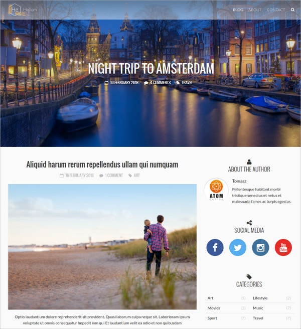 Responsive Personal WordPress Blog Theme $29
