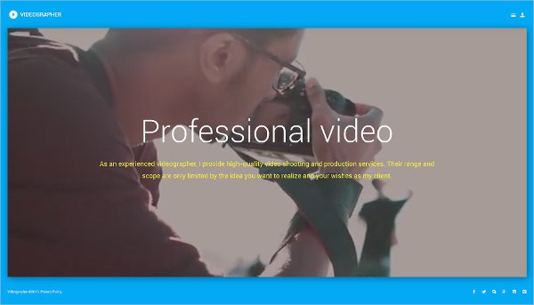 Professional Videographer Joomla Template $75