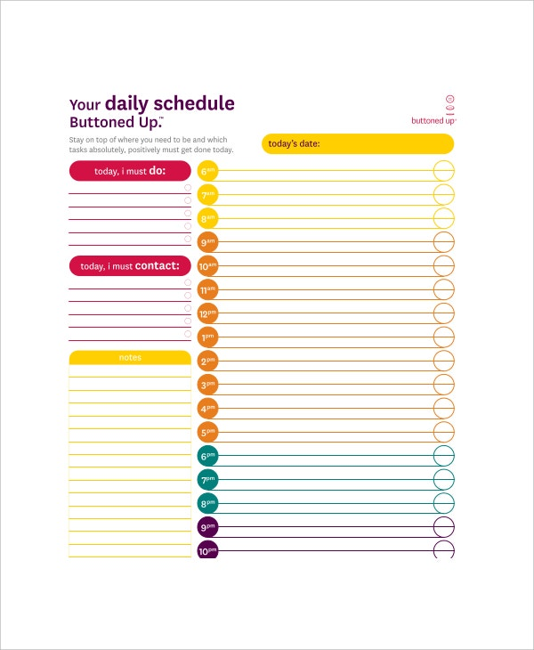 academic daily schedule template1