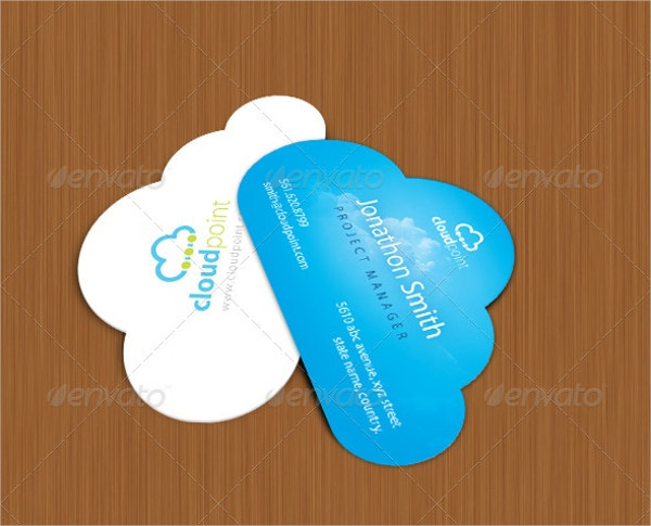 Die Cut Business Card Template