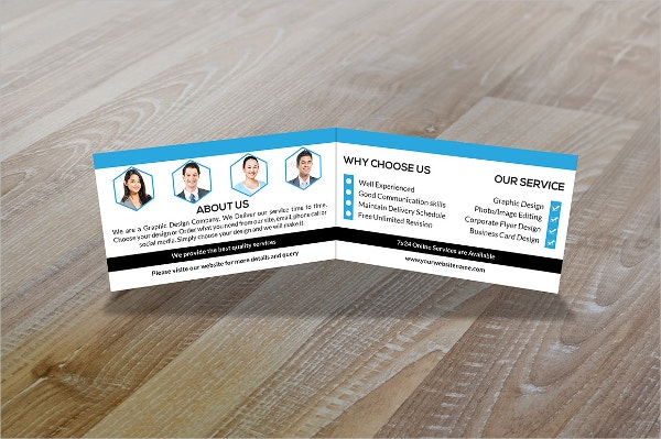 Modern Business Card Templates Free EPS AI PSD Format - Folded business card template
