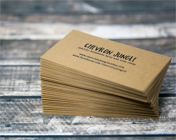 double sided business card