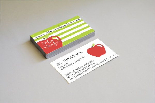 Stripes Modern Business Card