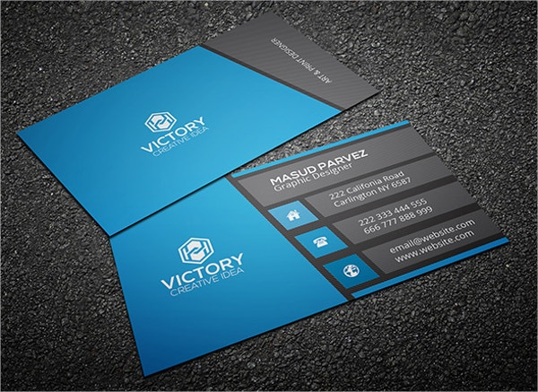 31 modern business card templates free eps ai psd for Business card presentation template psd