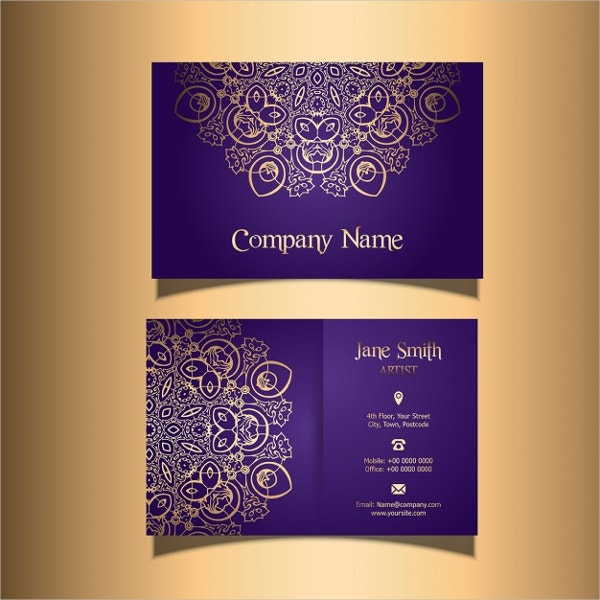 Business Card with a Stylish Design Free Vector
