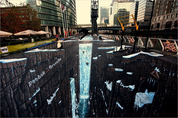 guiness world record 3d street art