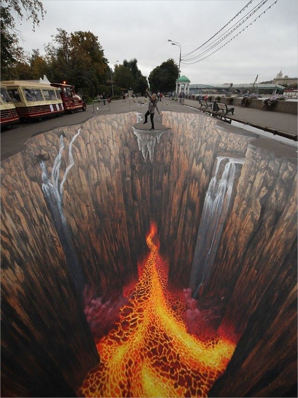 mind blowing 3d sidewalk art