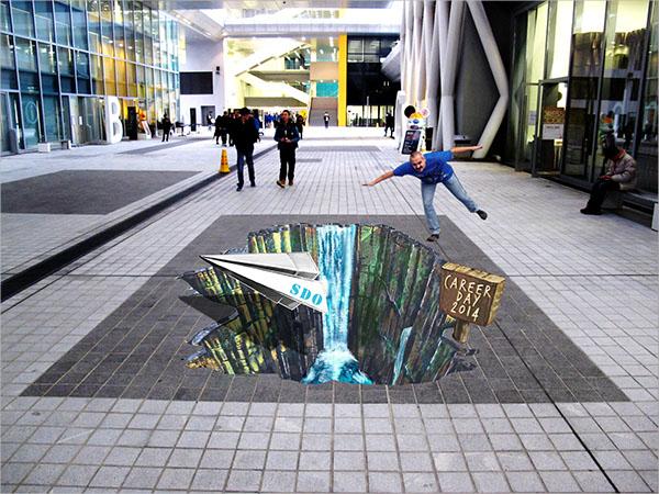 3D Anamorphic Street Art