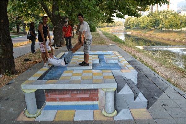 traditional event street 3d art