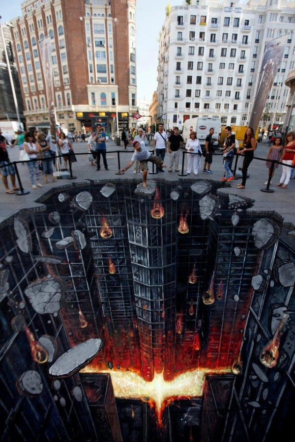 Batman 3D Street Art
