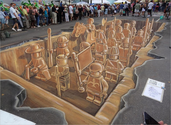 3d Street Art By Siljapeter