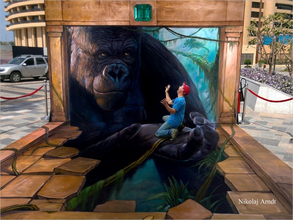 King Kong 3d Street Art