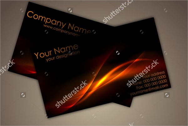 front back glossy business card