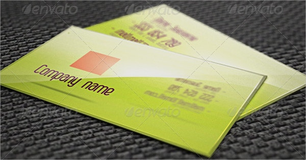 Glossy Business Card With 3D Effect