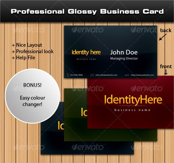 Professional Glossy Business Card