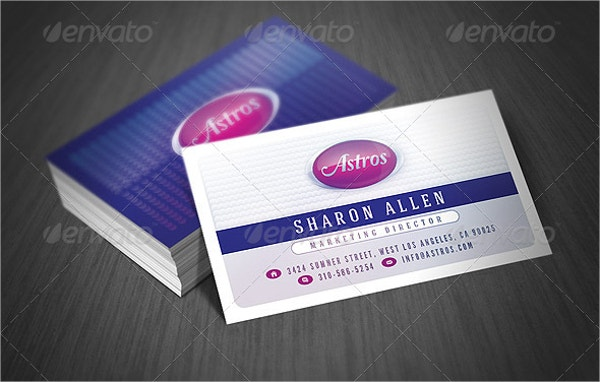 Creative Business Card With Glossy Style
