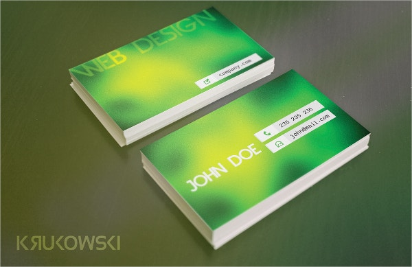 Presentation Glossy Business Card