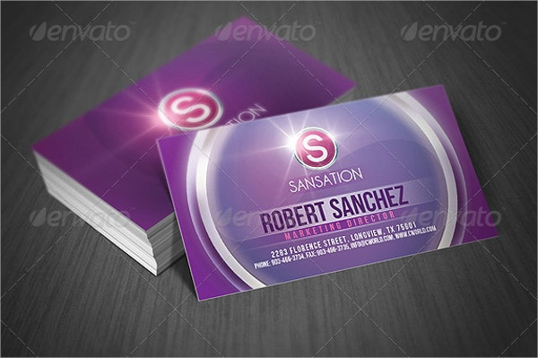 modern style glossy business card