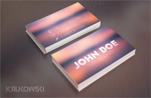 blur business card template